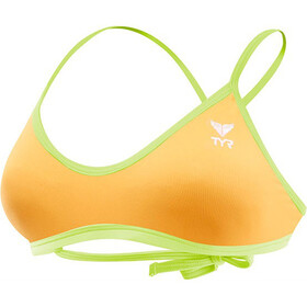 TYR Solid Crosscut Tieback Bikini-yläosa Naiset, fluo orange/yellow